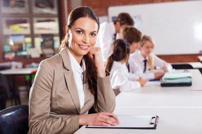 15893304 - attractive female school teacher in classroom